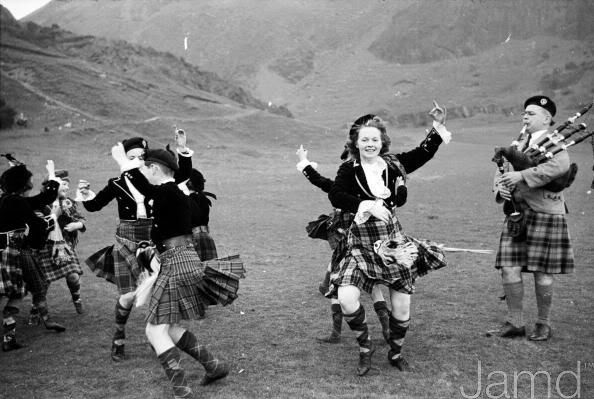 7th May 1955: Jean Reynolds performs the Highlands Scotland dance and caused controversy because mainly men wore the Scottish traditional kilt.