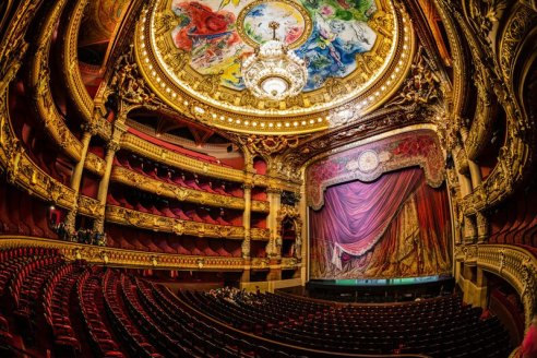 The stage of the Garnier Opera courtesy Twister Sifter.