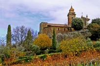 Montalcino Italy is perched on the hills overlooking Siena and their famous vineyards