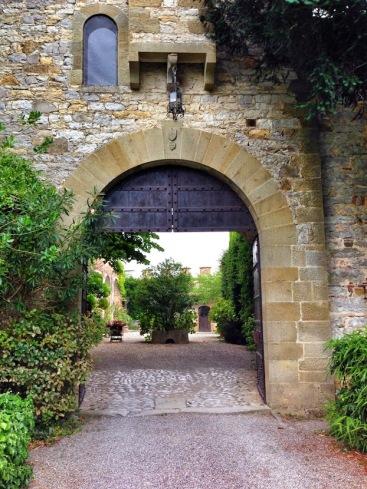A walkway through Montalto Castle