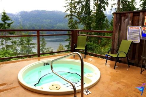 Their wonderful hot tub