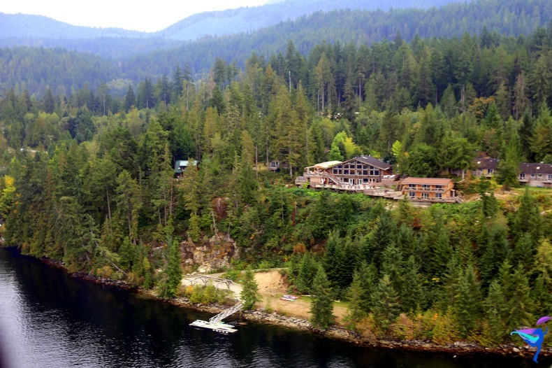 The West Coast Wilderness Lodge located along the Sunshine Coast in British Columbia Canada.