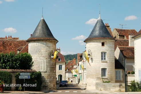 The French wine town of Chablis in Burgundy