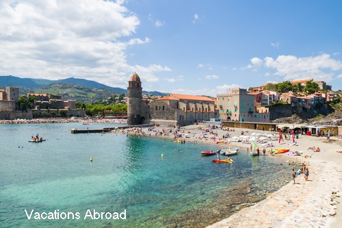 Seaside resort town of Collioure France