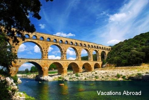 Pont du Gard in Languedoc (UNESCO heritage site)