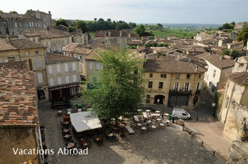 Saint-Emilion in Aquitaine a famous Bordeaux wine town.