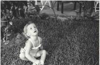 Enjoying life as a child.
