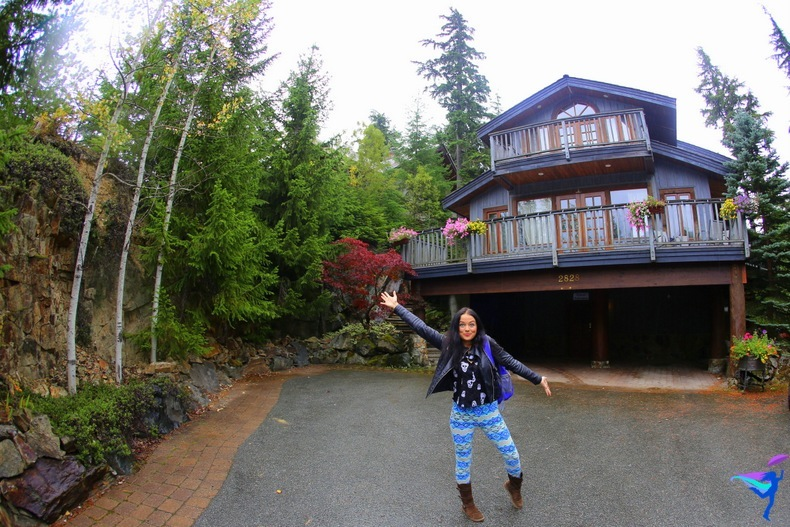 Anna let's us know she arrived safely at the B&B in Whistler.
