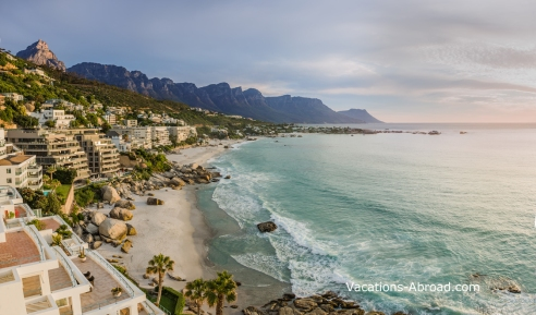 Cape Town with Table Mountain & Twelve Apostles in the background