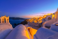 Evening sky over Mykonos