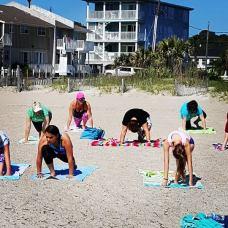 Morning yoga on Tyebee Beach