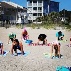 Morning yoga on Tyebee Beach